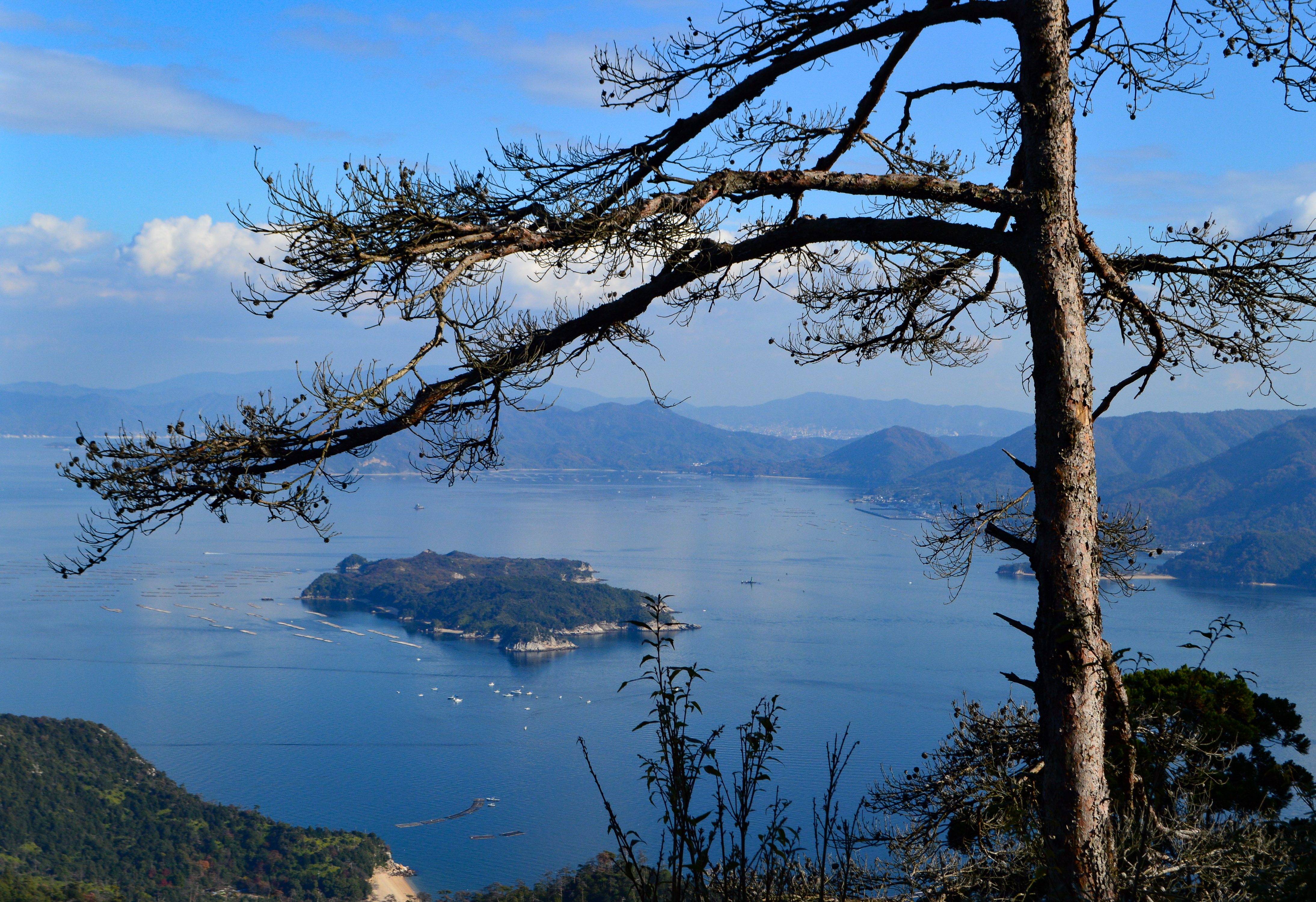 View from top of Miyajima Island